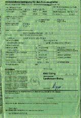 документы на автомобиль в Германии, Справка снятия с учета
